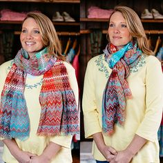 Looped around your neck or tied in a fashionable knot, the vibrant colors of the Spring Chevron scarf will add a touch of the season to your ensemble.  http://ow.ly/JQ19Y