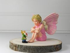 Miniature Fairy Garden Candytuft Flower Fairy and Gnome