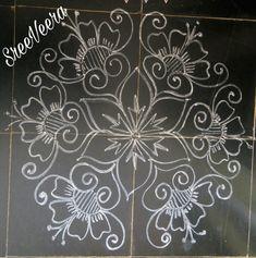 Sreelakshmi's rangoli Indian Rangoli Designs, Rangoli Designs Latest, Rangoli Border Designs, Rangoli Designs With Dots, Rangoli Designs Images, Beautiful Rangoli Designs, Rangoli Borders, Rangoli Patterns, Rangoli Ideas