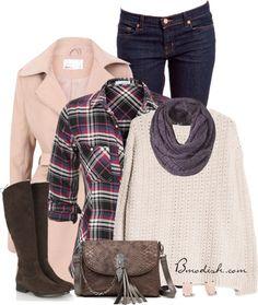 21 Outfits Ideas de Polyvore para Invierno para mantener el Calor en el Invierno - Moda