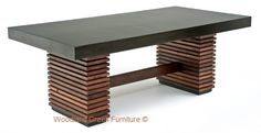 Environment Friendly Furniture Salvaged Wooden Linear Base