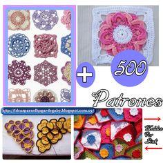 Ideas para el hogar: Patrones de la abuela en crochet