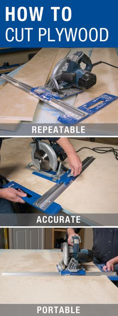 Make straight, accurate, repeatable cuts easily in plywood, MDF, and other sheet goods with the Kreg Rip-Cut Circular Saw Guide. Connects to most circular saws – right or left blade. Reversible guide arm for right- or left-handed use.