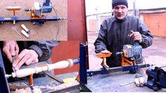 Самодельный токарный станок по дереву своими руками.Часть1.Homemade Wood...