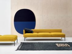 Upholstered sofa Steeve Collection by Arper | design Jean-Marie Massaud