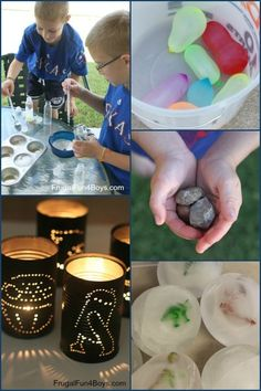 A huge list of activity ideas for when kids say they're bored - most of these do not require special materials.  Lots of simple and fun ideas here!