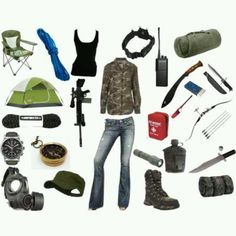 Zombie survival gear. -  this kind of cracks me up!!