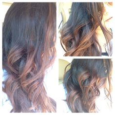 Sombre black to Brown carmel ombre. Bayalage highlights. # MickyMix Thanks to Michaela Galeana