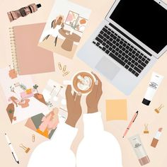 Portrait Illustration, Digital Illustration, Beauty Illustration, Creative Illustration, Aesthetic Art, Cartoon Art, Cute Wallpapers, Art Girl, Illustrators