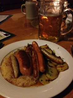 Best dining experience in Germany thus far! Massive mug of beer and plate of assorted sausages followed by an apple streudel. | Yelp