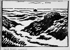 Harold Bengen (Germany, Hannover, born 1879), Untitled landscape, circa 1912, woodcut. Image: 7 3/4 x 10 15/16 in. Robert Gore Rifkind Center for German Expressionist Studies @ LACMA