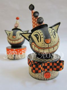 junk&stuff: Tutorial: Vintage-look Halloween Cat Trinket Box