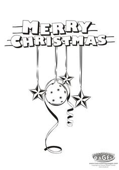 Merry Christmas Colouring Page Kerst Kleurplaten Merry Sign Coloring Pages