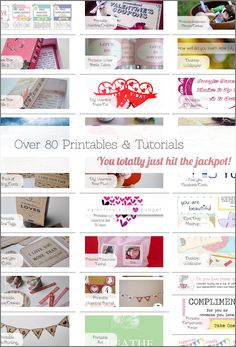 Pin now, look when you need a last minute gift or feel like getting crafty with your bad self!  Over 80 Unique Printables & DIY Tutorials for all occasions!
