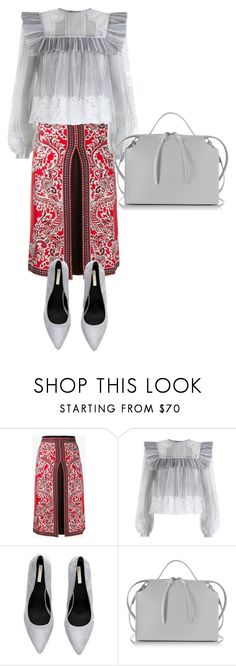 """""""Gray and red..."""" by natozurabovna ❤ liked on Polyvore featuring Alexander McQueen, Zimmermann and Jil Sander"""