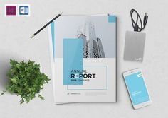 The Blue Annual Report by Creative Touch on @creativemarket