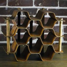 coolest wine rack i've seen yet. Honeycomb Wine Rack, $128, now featured on Fab.