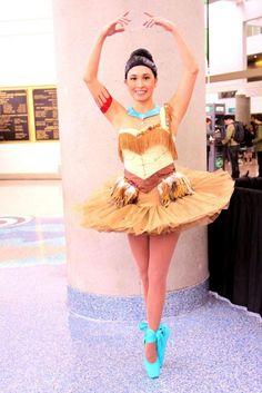 Pocahontas Makes A Beautiful Ballerina [Cosplay]