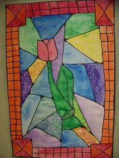 stained glass w/flowers