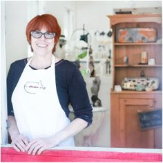 You can visit the working pottery studio and gallery of Patricia Griffin on Main Street in Cambria, Ca.