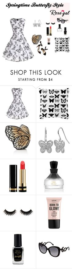 """Springtime Butterfly Style"" by canoe-communicationsblog ❤ liked on Polyvore featuring Primrose, Gucci, Oribe, NYX, Barry M and Roberto Cavalli"