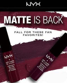Nyx Soft Matte Lip Creams in Copenhagen and Transylvania are back in stock on http://www.nyxcosmetics.com as of November 2014
