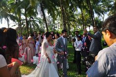 Wedding of Lucy & Vinay in Goa - romantic settings at The Leela. www.Ankit.in