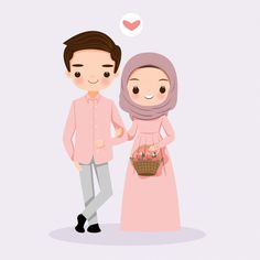 Cute cartoon couple bride and groom muslim Cartoon Cartoon, Hijab Cartoon, Drawing Cartoon Characters, Cartoon Drawings, Cute Drawings, Bride And Groom Cartoon, Wedding Couple Cartoon, Cute Couple Cartoon, Cute Couple Art