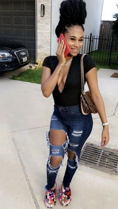 Dope Outfits, Fashion Outfits, Womens Fashion, Toddler Braided Hairstyles, Ponytail Hairstyles, Braces Girls, Philly Style, Black Girl Fashion, College Outfits