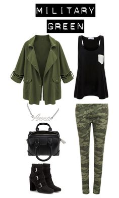 """""""Military"""" by lucy-wolf ❤ liked on Polyvore featuring Solid & Striped, WearAll, ANNA, Givenchy and Yves Saint Laurent"""