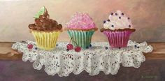 Cupcakes painting http://www.pinterest.com/polinasika/my-dream-s-world/