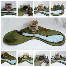 Large Castle Playscape play mat wool felt Cave by MyBigWorld2015