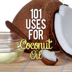 101 Uses for Coconut OIl--coconut oil can almost do it all! #coconutoil #healthbenefits #superfood