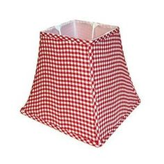 Red Gingham Lamp Shade: Gingham red lampshade,Lighting