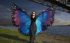 Ethereal Hand-Painted Silk Scarves Give You Gracefully Fluttering Butterfly Wings - My Modern Met