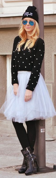 Organza by Zorannah. Seems to be the look girls, short skirts, most fuller, tights and boots and scarves, mostly plaid, often worn with beanie or fedora! Get crackin' LOL sadee says