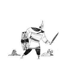 Black and white illustration of Celtic warrior. Winter Illustration, Black And White Illustration, Pencil Illustration, Celtic Warriors, Northern Irish, Illustrator, Web Design, Characters, Ink