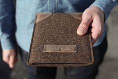handmade linen and leather ipad case | iPad Air / iPad mini Sleeve