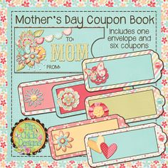 Printable Mothers Day Coupon Book 2 by flipchickdesigns on Etsy, $2.00