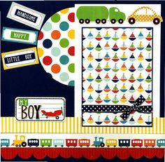 My Boy  Premade Scrapbook Page by SusansScrapbookShack on Etsy, $16.95