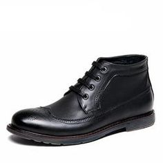 Brogue Style Ankle Boots For Men