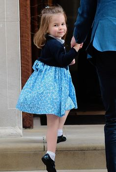 "crownprincesses: ""Princess Charlotte being the most beautiful and graceful Princess as she arrives at the Lindo Wing to meet her new baby brother. 