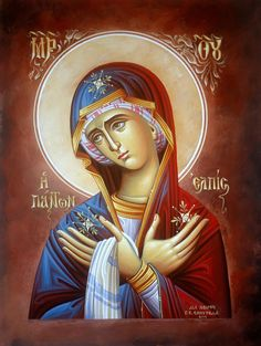 Religious Images, Religious Icons, Religious Art, Byzantine Icons, Byzantine Art, All Archangels, Writing Icon, Virgin Mary Art, Madonna