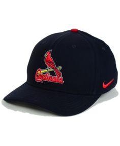 dd29e5dea Nike St. Louis Cardinals Classic SwooshFlex Cap - Blue M L Mens Caps