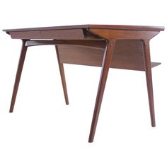 Sleek And Stylish Danish Modern Teak Desk Designed By Harry Ostergaard