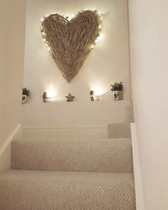 Extra large wicker hearts....create a feature wall.. Www.westbarninteriors.co.uk