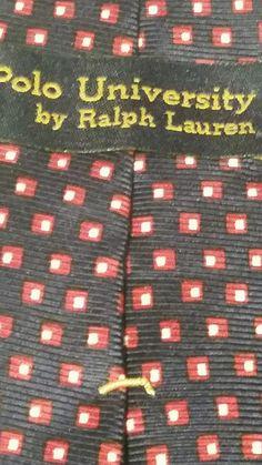 NEW Polo by Ralph Lauren Geometric 100% Silk Multi Color Classic Mens Neck Tie #LaurenRalphLauren #NeckTie