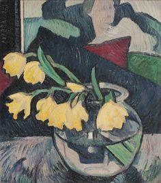 The Athenaeum - Daffodils in a Glass Bowl (Samuel John Peploe - )