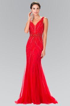 Be a trendsetter in this long sleeveless beaded mermaid dress by Elizabeth K.  Fabric  Jersey 4dc337de7