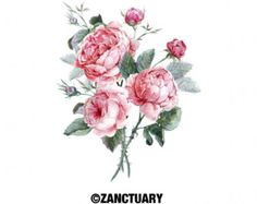 Image result for peony watercolor tattoo